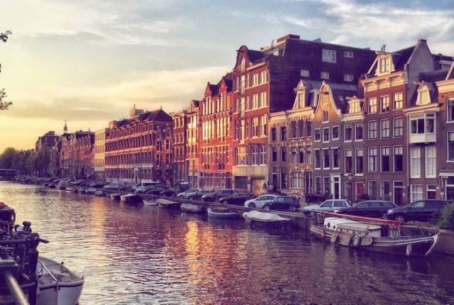 Amsterdam, tramonto