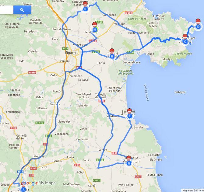 Itinerario di viaggio in Costa Brava
