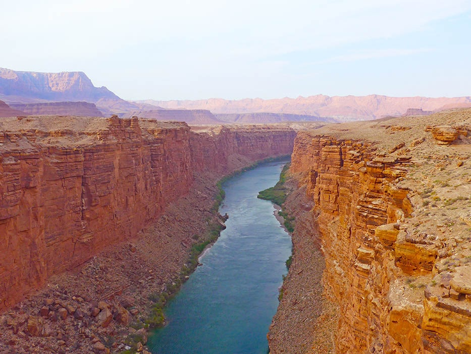 ponte sul Colorado, in Arizona - parchi americani dell'ovest